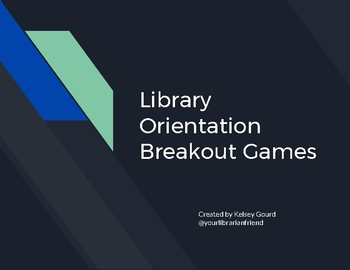 Library Orientation Breakout Game by Your Librarian Friend | TpT