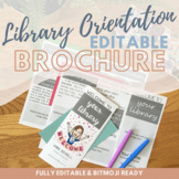 Library Orientation Brochure for Back to School [Editable]