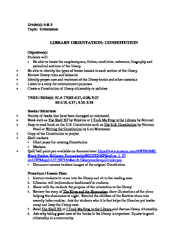 Library Orientation:  Constitution