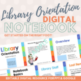 Library Orientation Digital Notebook for PowerPoint and Go