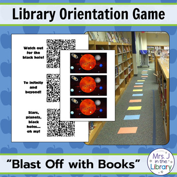 "Library Orientation Game: ""Blast Off with Reading!"" Theme"