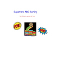 Library Orientation Super Hero Smart Board Activity