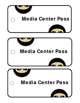 Printable Library Passes - Ninjas, Silly Monsters, Reading