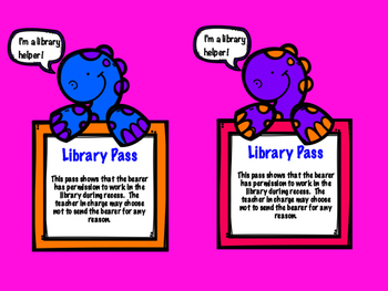 Library Passes Dinosaur Themed