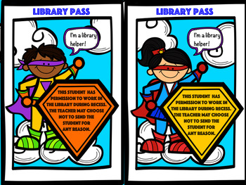 Library Passes Super Hero Themed