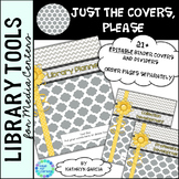 Library Planner Binders COVERS ONLY Editable Gray-Yellow