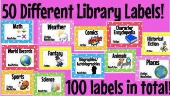 Library Polka Dot Labels