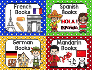 Library Polka Dot Posters Bundle: Dewey Decimal + (EDITABLE) Library Signs