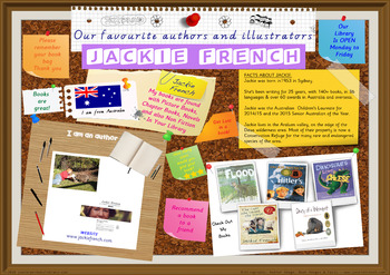 Library Poster Hi Res - Jackie French Australian Author Of Children's Books