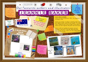 Library Poster Hi Res - Jeannie Baker Australian Children's Author Illustrator