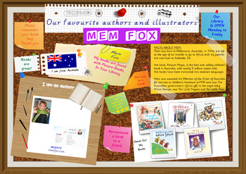 Library Poster Hi Res - Mem Fox Australian Author Of Children's Books