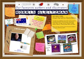 Library Poster Hi Res - Morris Gleitzman Australian Author Of Children's Books