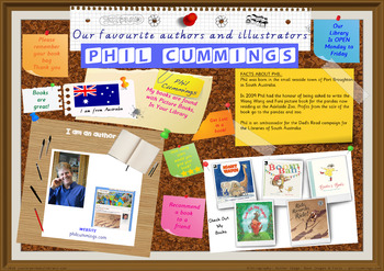 Library Poster Hi Res - Phil Cummings Australian Author Of Children's Books