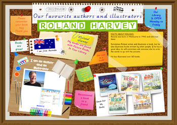 Library Poster Hi Res - Roland Harvey Australian Children's Author Illustrator