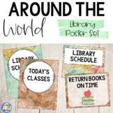 Library Poster Set - Around the World - Maps Theme