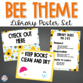 Library Poster Set - Bee Theme