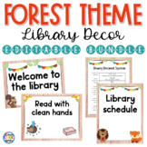 Library Poster Set Décor - Forest Theme