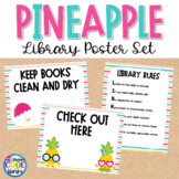 Library Poster Set - Pineapple Theme