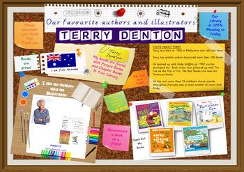 Library Poster Hi Res - Terry Denton Australian Children's Author Illustrator