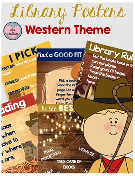 Library Posters Western Theme