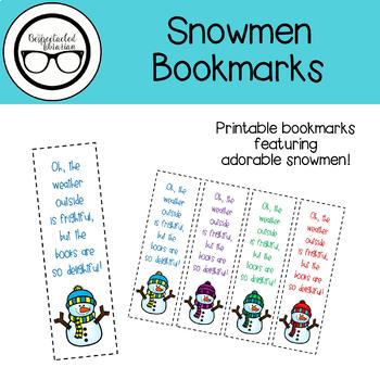 Library Printables: Snowmen Bookmarks