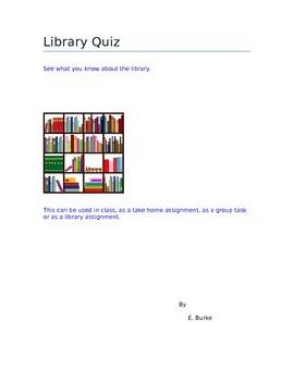 Library Quiz