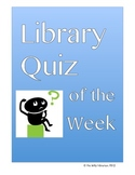 Library Quiz of the Week Activity:  Research Skills, Citing Sources