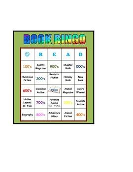 Library Reading Bingo