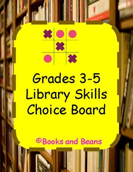 Library Reading Choice Board