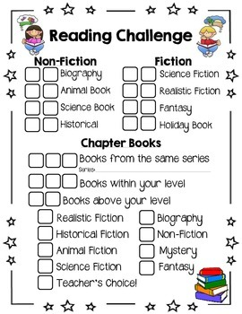 Library Reading Genre Challenge