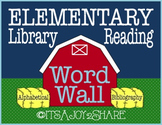 Library / Reading Word Wall - Farm Theme