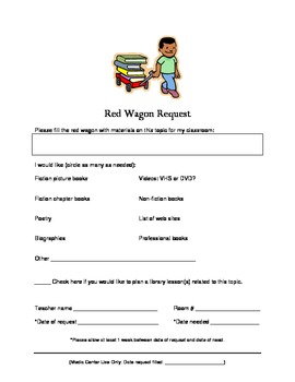 Library Red Wagon Request