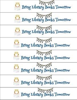 Library Reminder Bracelets