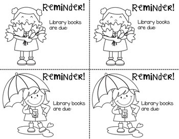 Library Reminder Notes {Editable}