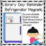 Library Reminder Refrigerator Magnets