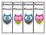 Library 'Renew Please' Bookmarks