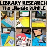 Library Research   The Ultimate BUNDLE