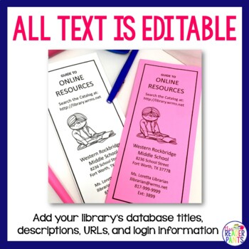 Library Resources Brochure (editable)