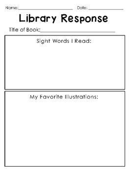 Library Response Worksheet