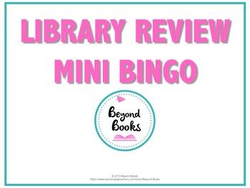 Library Review Mini Bingo