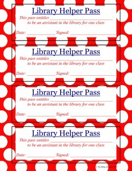 Library Reward Passes:  10 Unique Library Passes to Reward Students!