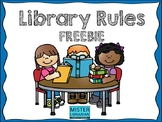 Library Rules FREEBIE