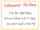 Library Rules Poster
