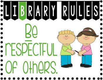 Library Rules Poster Set 2