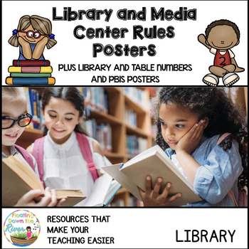 Library and Media Center Rules Posters