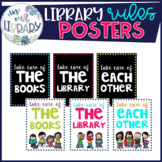 Library Rules Posters