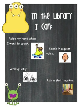 Library Rules Posters - Monster Themed
