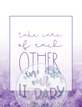 Library Rules Posters {Ombre Watercolor}