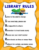 Library Rules Posters - Superhero Theme
