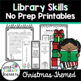 Library Scavenger Hunt Cards- Christmas Themed